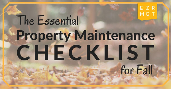 Essential Property Maintenance Checklist