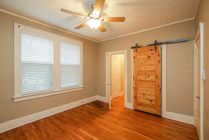 barn door in the bedroom